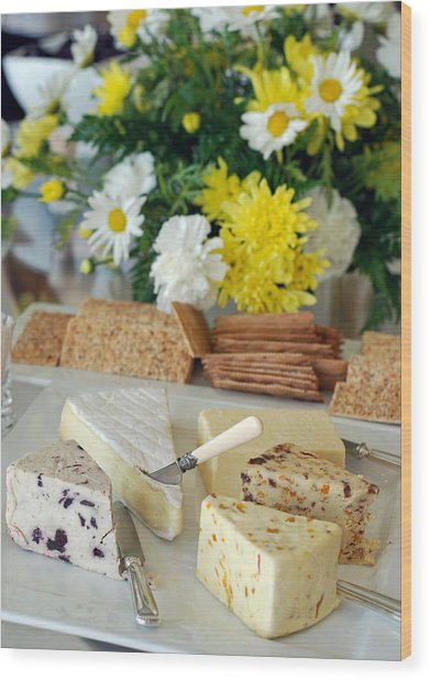 Elegant Cheese Buffet Wood Print
