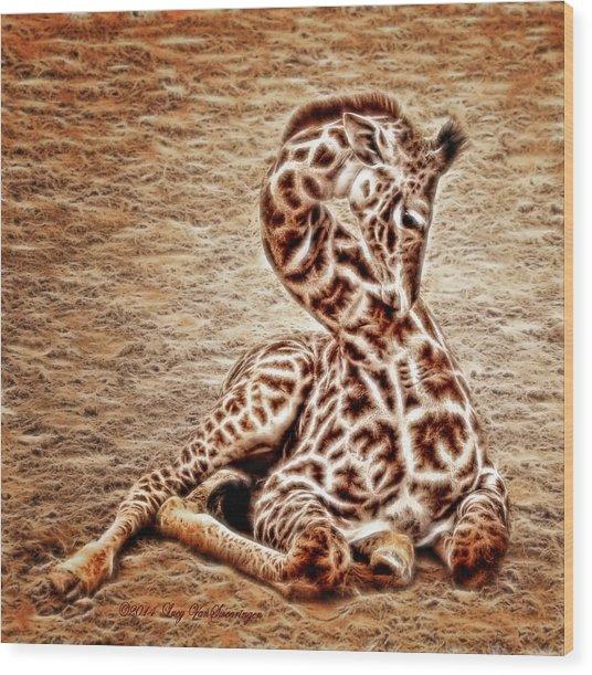 Elegant Infant Wood Print