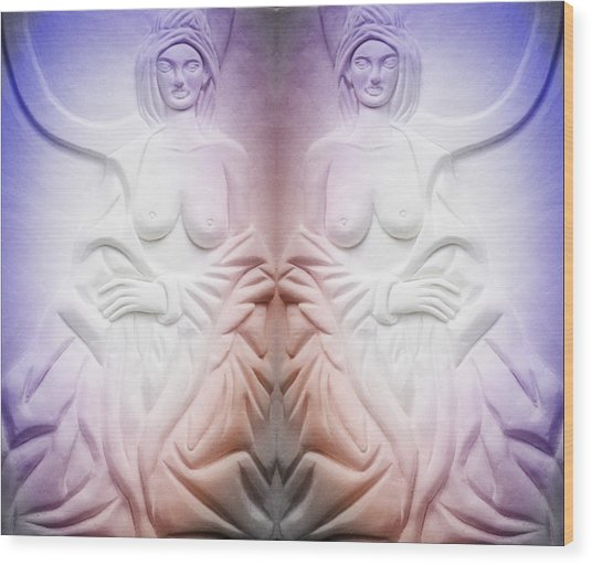 The Bathing Beauties Wood Print