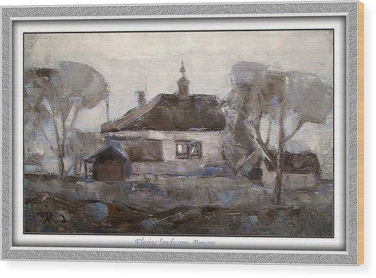 Elegiac Landscape Ell2 Wood Print