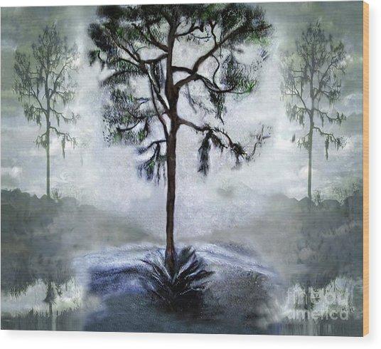 Elegy To A Tree Wood Print