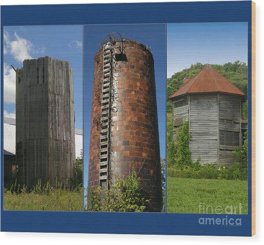 Elegy To Family Farms Wood Print