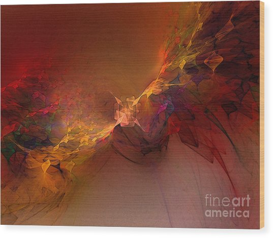 Elemental Force-abstract Art Wood Print