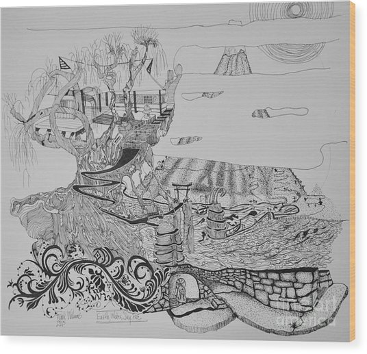Elemental Wood Print