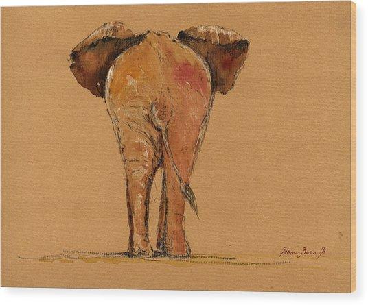 Elephant Back Wood Print