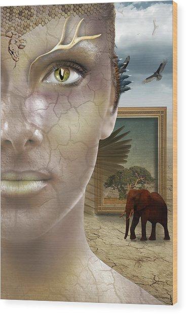 Elephant Dream Wood Print