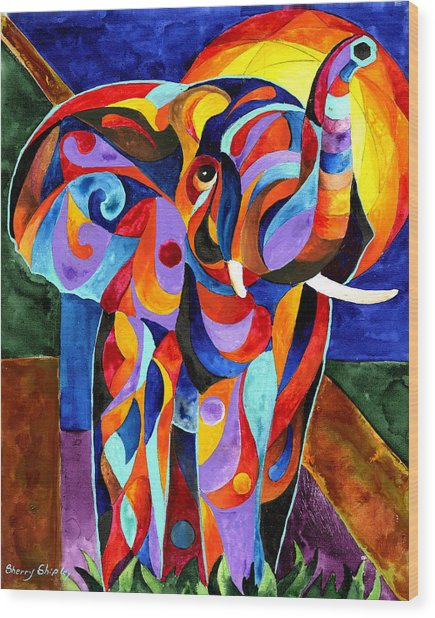 Elephant Dream Wood Print