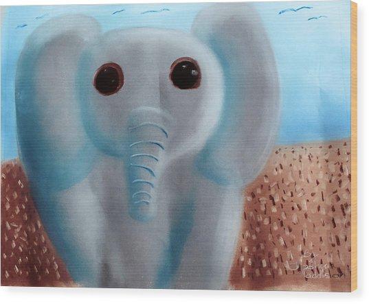 Animalart Elephant Wood Print