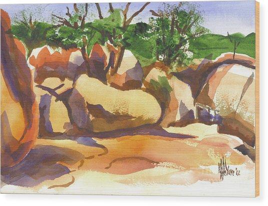 Elephant Rocks Revisited I Wood Print