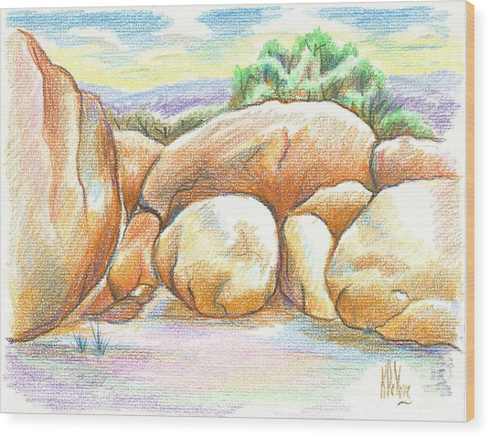 Elephant Rocks State Park II  No C103 Wood Print