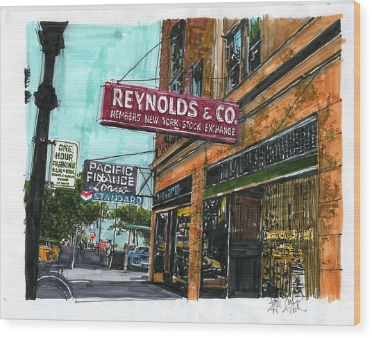 Eleventh And I Streets Wood Print by Paul Guyer