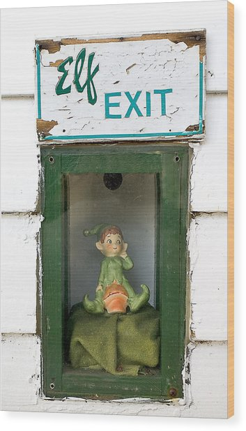 elf exit, Dubuque, Iowa Wood Print