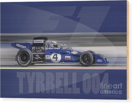 Elf Team Tyrrell 004 Wood Print
