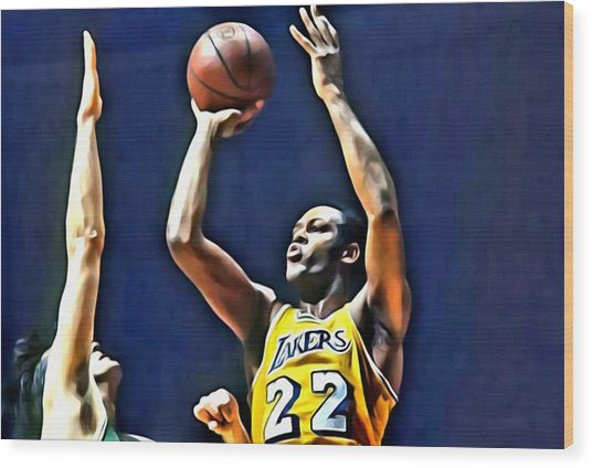 Elgin Baylor Wood Print