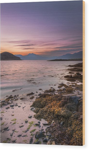 Landscape Wall Art Sunset Isle Of Skye Wood Print