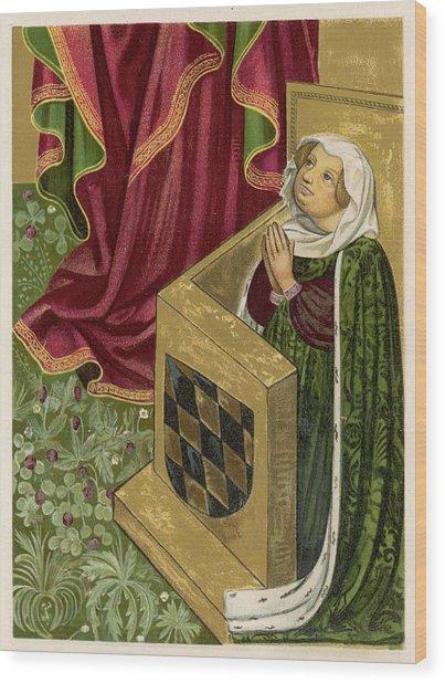 Elisabeth Von Brandenburg Wife Wood Print by Mary Evans Picture Library