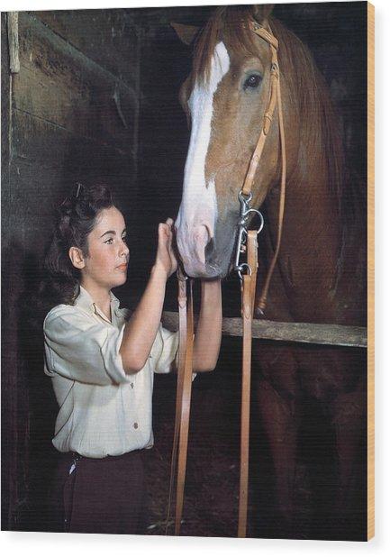 Elizabeth Taylor In National Velvet  Wood Print
