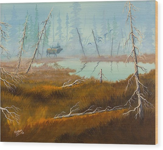 Elk Swamp Wood Print