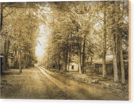 Elkmont Ghost Town Wood Print