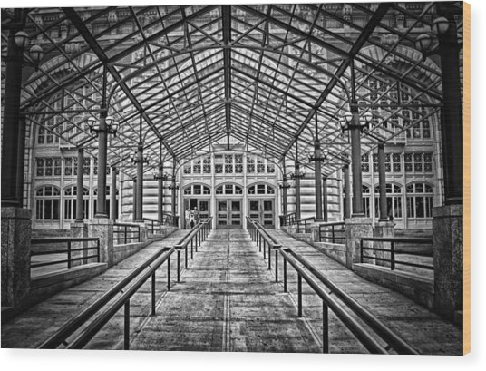 Ellis Island Entrance Wood Print