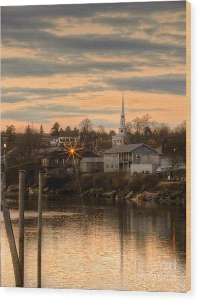 Ellsworth Sunset Wood Print