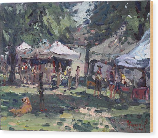 Elmwood-bidwell Farmers Market Wood Print