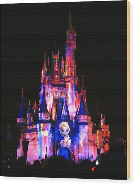 Elsa Queen Of The Castle Wood Print