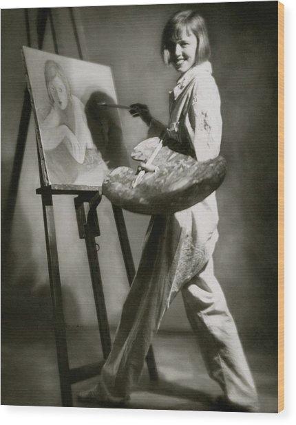 Elsa Von Reppert Bismarck Painting Wood Print