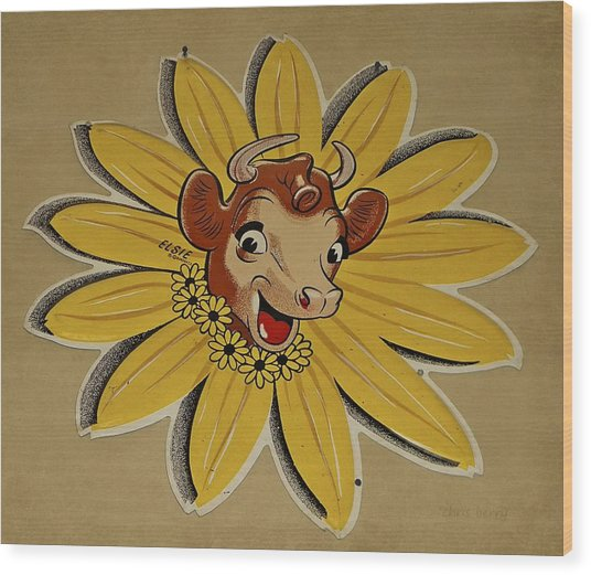 Elsie The Borden Cow  Wood Print