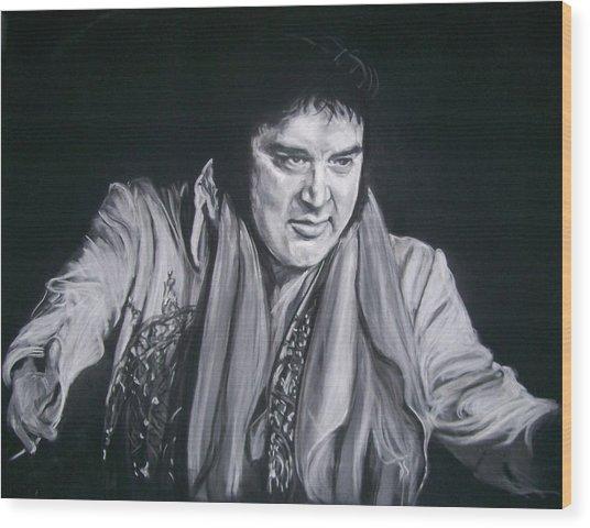 Elvis 1977 Wood Print