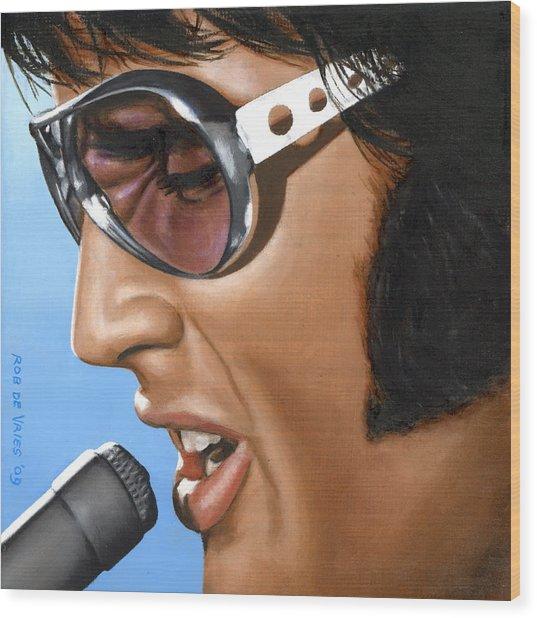 Elvis 24 1970 Wood Print