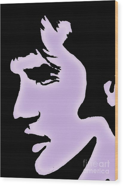 Elvis Pop Art Style Wood Print
