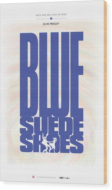 Elvis Presley - Blue Suede Shoes Wood Print