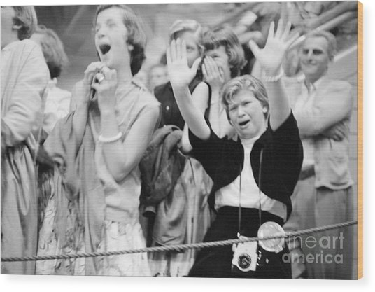 Elvis Presley Fans Reacting To His Performance Photograph
