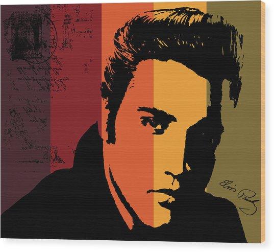 Elvis Presley Wood Print by Kenneth Feliciano