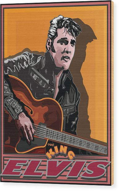 Elvis Presley Wood Print by Larry Butterworth