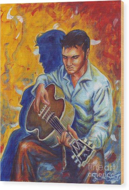 Elvis Presley- Shadow Duet Wood Print
