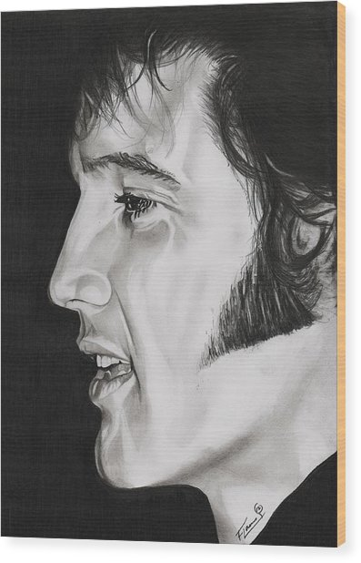 Elvis Presley  The King Wood Print