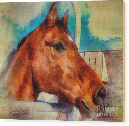 Elvis The Arabian Wood Print