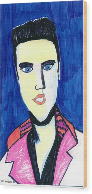 Elvis The King Wood Print