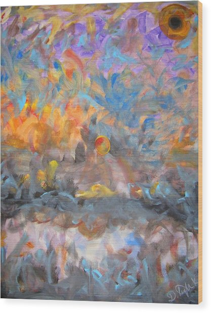 Elysion Fields Wood Print by Darryl  Kravitz
