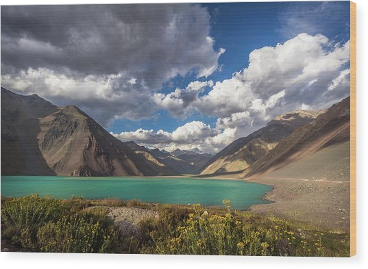 Embalse El Yeso Wood Print by Marcelo Freire Photography
