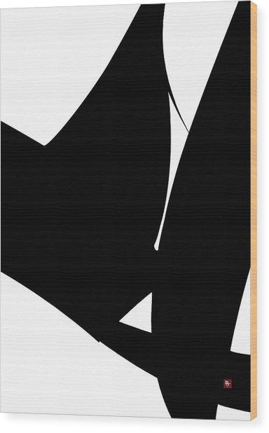 Embrace Wood Print by Edward Jensen