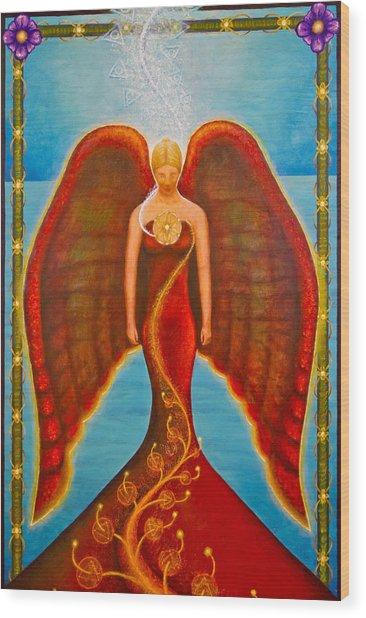 Emeliah Angel Of Inner Journeys Wood Print