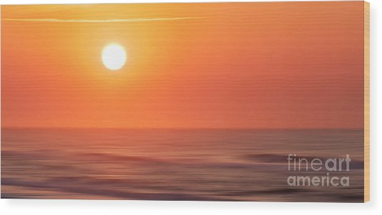Emerald Isle Sunrise Wood Print
