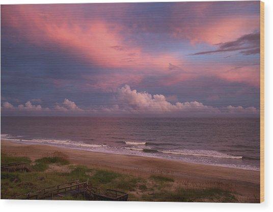 Emerald Isle Sunset Wood Print