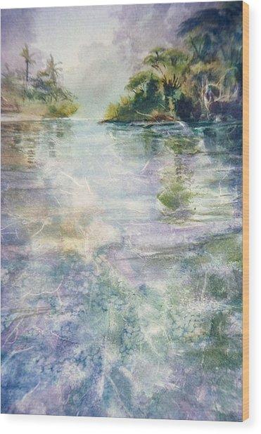 emerald Stream Wood Print by Patrice Pendarvis