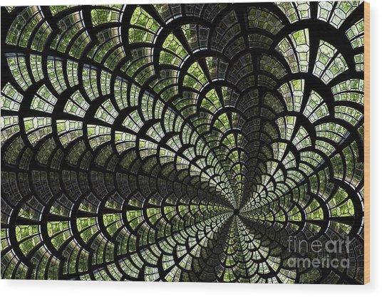 Emerald Whirl. Wood Print