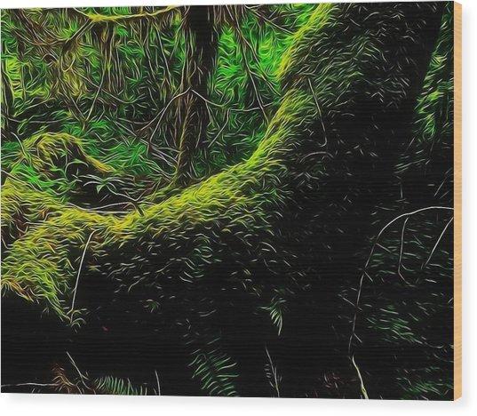 Emily Carr's Backyard Wood Print by Mick Logan