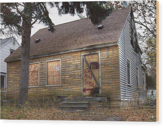 Eminem's Childhood Home Taken On November 11 2013 Wood Print